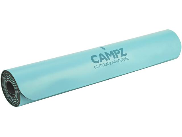 CAMPZ PU Position Line Yoga Matte blau